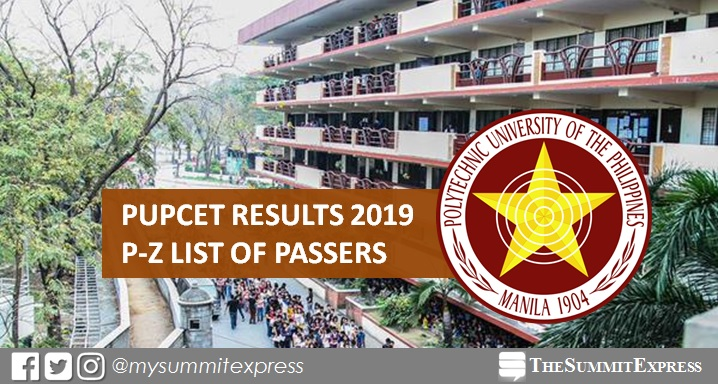P-Z Passers: PUPCET Results AY 2019-2020