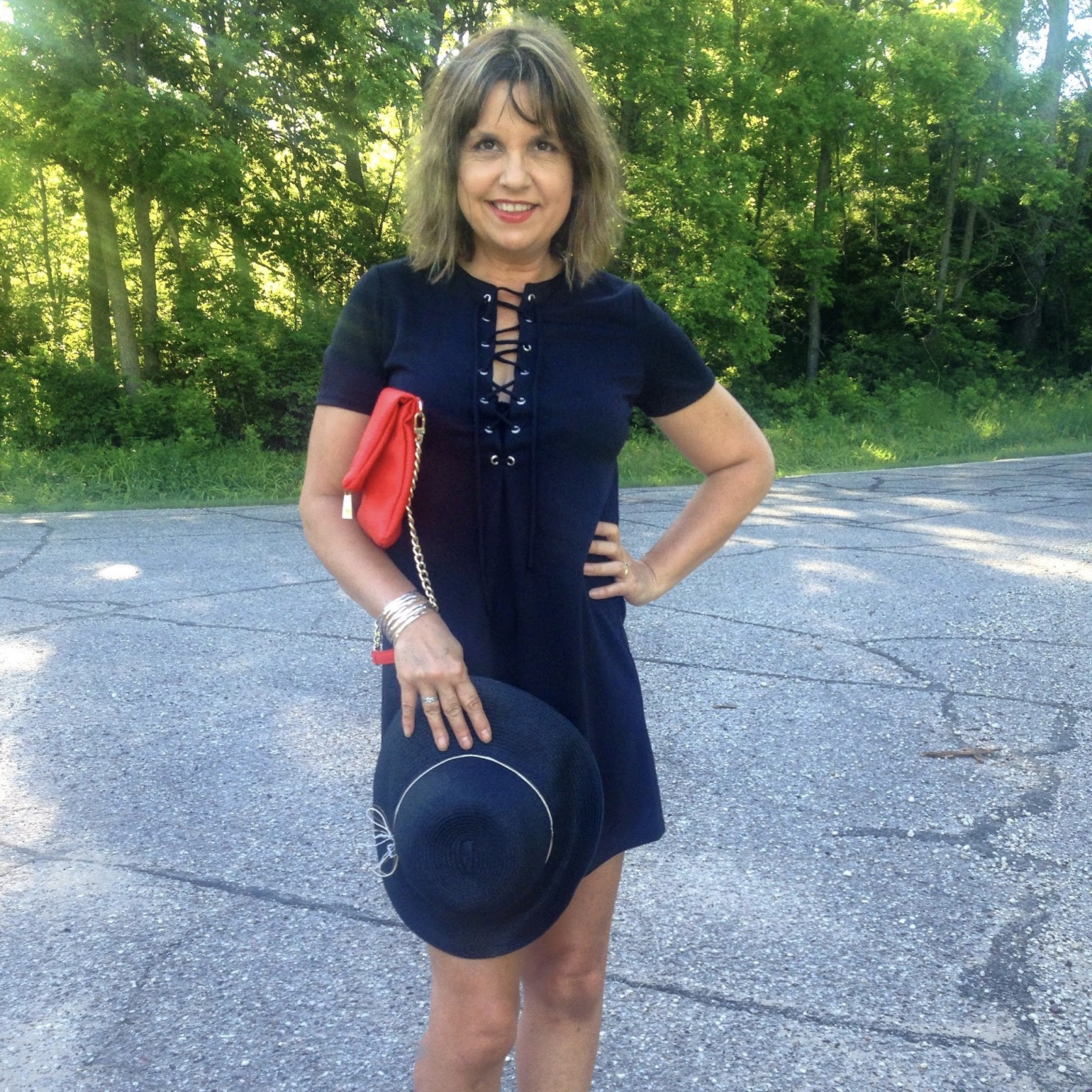 Amy\'s Creative Pursuits: How to Wear a Lace Up Little Black Dress