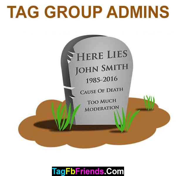 Tag an admin of a facebook group