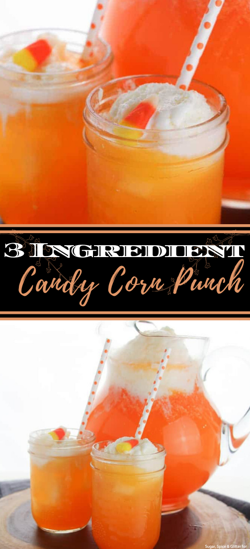 3 Ingredient Candy Corn Punch  #healthydrink #easyrecipe #cocktail #smoothie