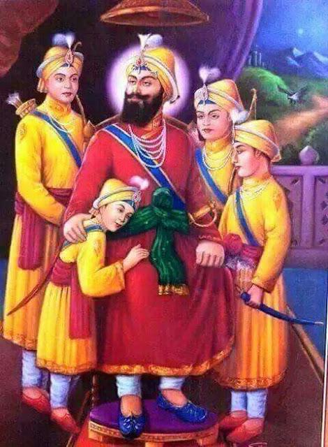 guru gobind singh ji family pic