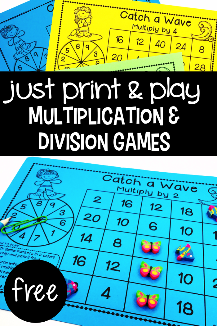 Multiplication & Division Games - Primary Flourish