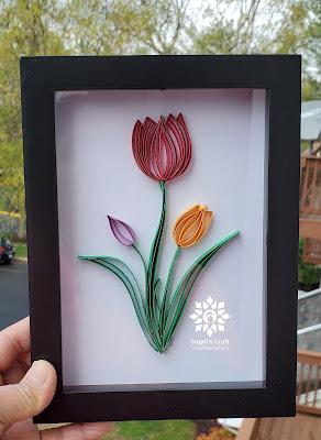 Paper Quilling Tulip Flower