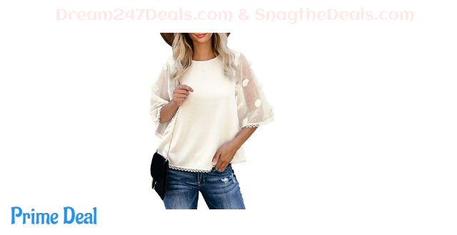 Womens Casual Round Neck Shirts 50% off