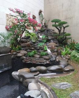 Tebing dengan taman minimalis