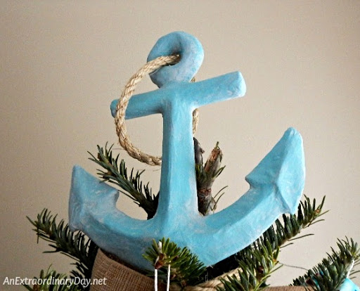 DIY Nautical Christmas Tree Topper Idea
