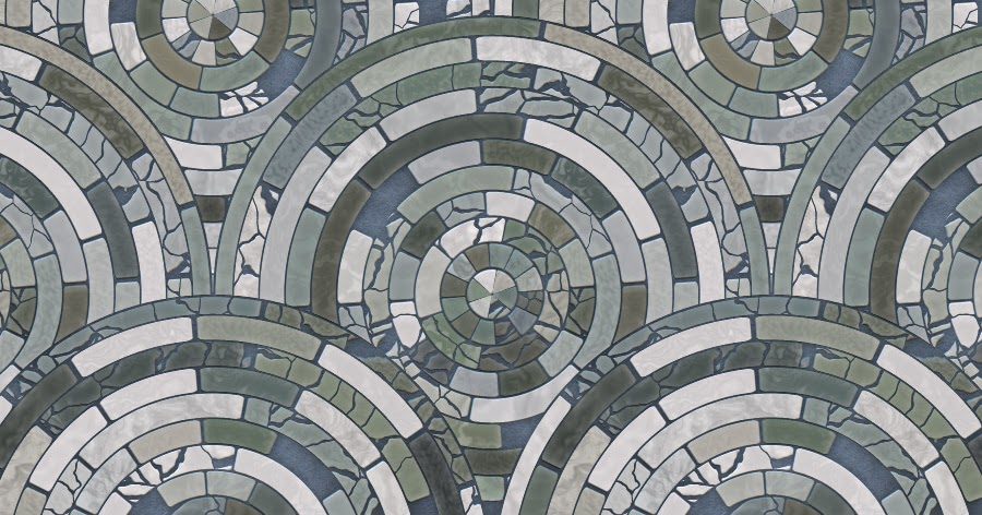 Free Radial Mosaic Tiles Patterns For Photo And Elementsfree