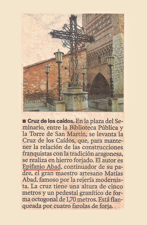Turoliense cruz de los ca dos en la plaza del seminario for Arquitectura franquista