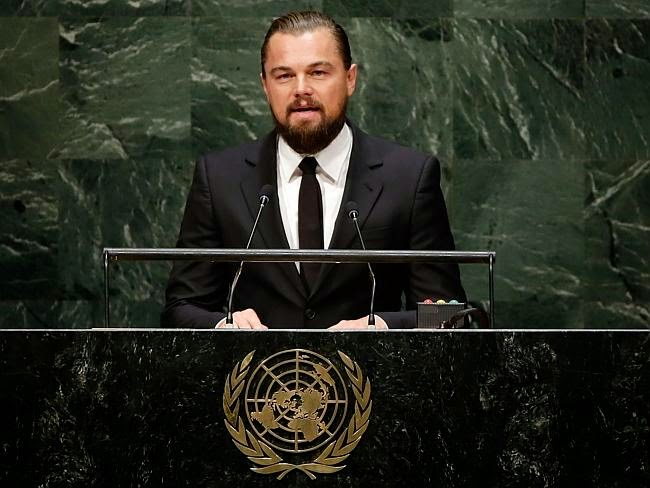 Leonardo DiCaprio speaks at UN climate change summi