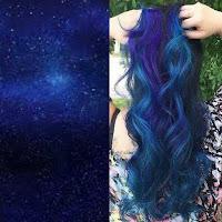 Colores de tinta de pelo galácticos muy alocados