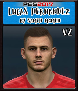 PES 2017 Faces Lucas Hernadez by Sameh Momen