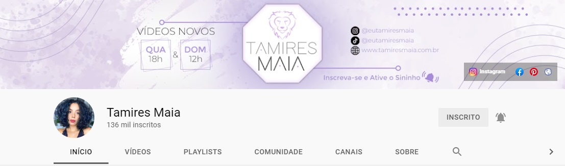 Tamires Maia | Youtube