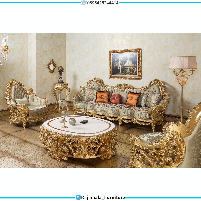 Model Set Sofa Ruang Tamu Mewah Classic Luxury Jepara RM-0144