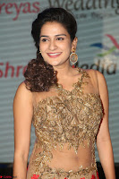 Jenny in brown transparent sleeveless anarkali dress at Shamanthakamani pre release function ~  Exclusive 039.JPG