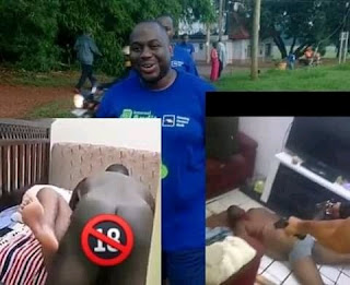 Moment a bank manager was shot dead after being caught sleeping with another man's wife (graphic video)