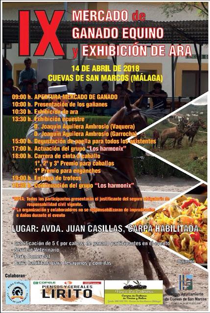 IX Mercado de Ganado Equino en Cuevas de San Marcos