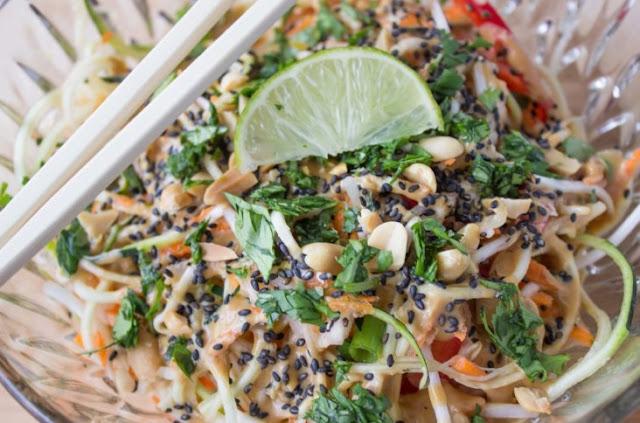Raw Vegan Pad Thai #healthy #vegetarian