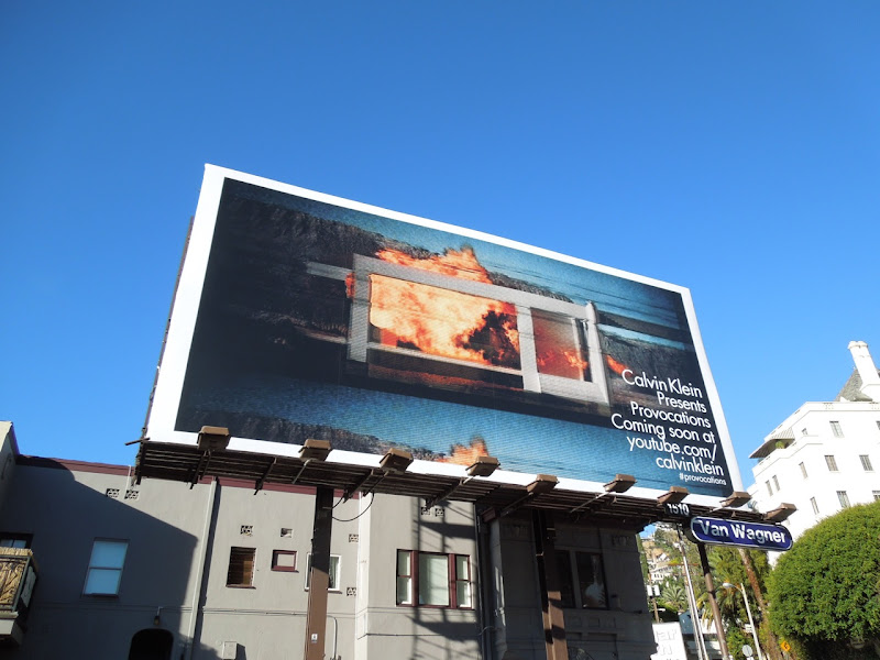 Calvin Klein Provocations teaser billboard