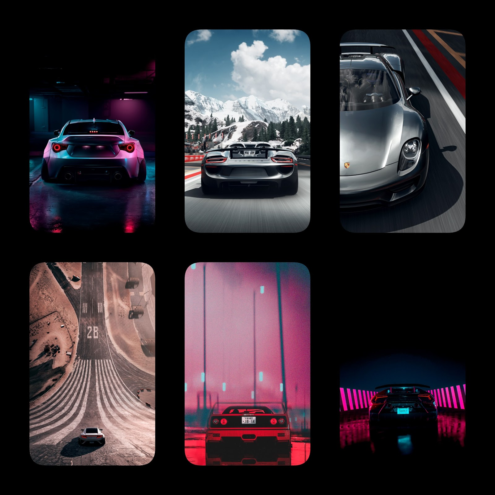 6 amazing cars phone wallpapers