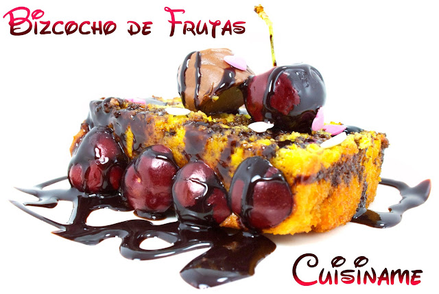 bizcocho, bizcocho casero, cake, bizcocho de frutas, postres, recetas de postres, yummy recipes, cerezas, uva, humor, curiosidades, recetas caseras, recetas originales