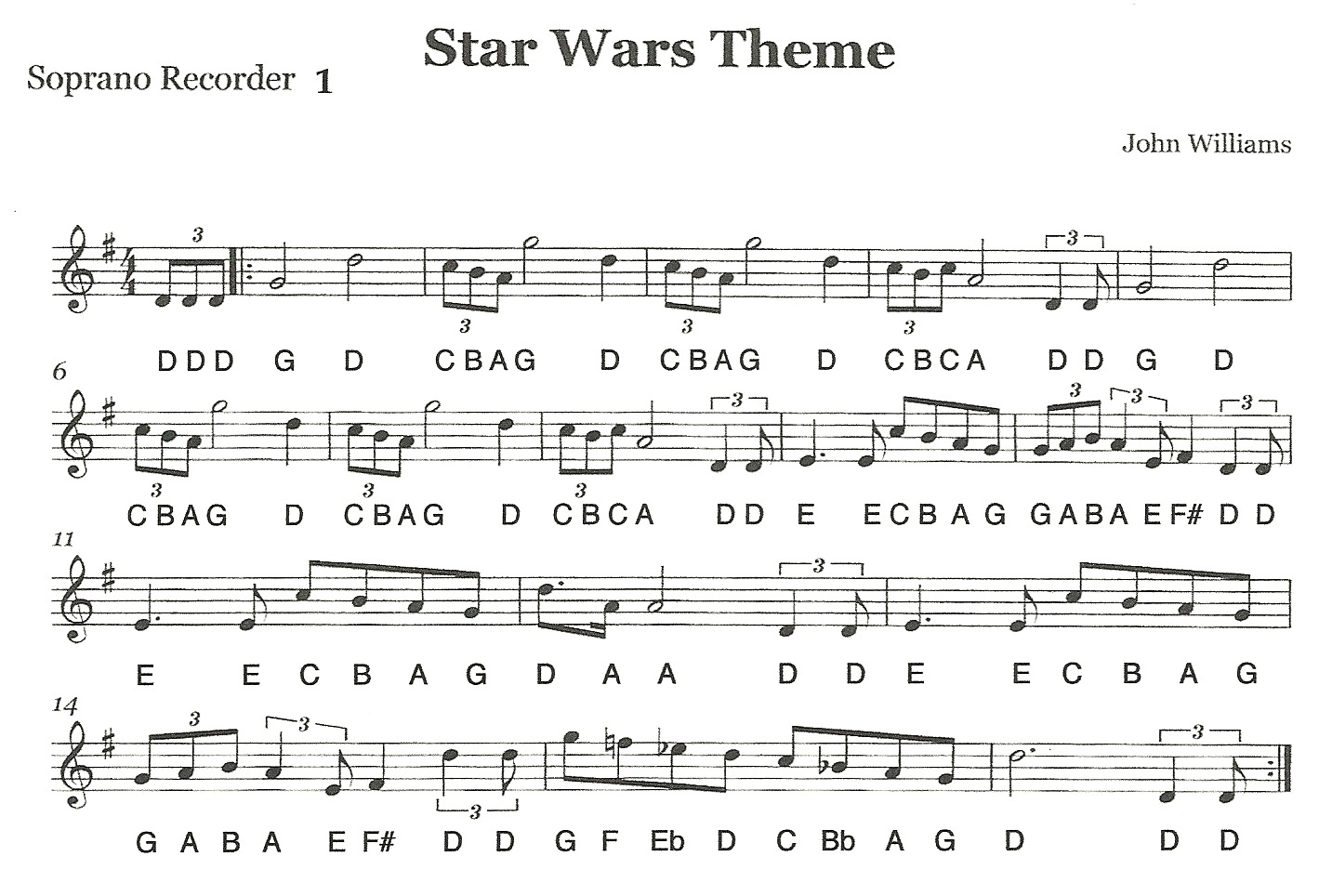 Time Signature Of Star Wars Theme 11