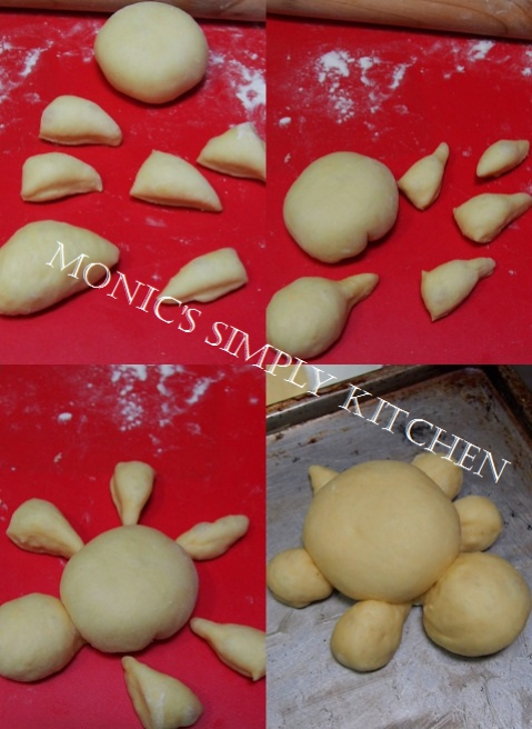 cara membuat roti kura kura