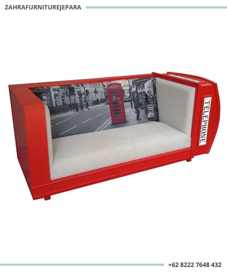 SOFA BOX TELEPHONE - SOFA BOX TELEPON LONDON WARNA MERAH