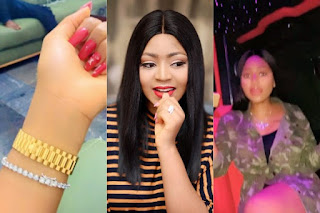 'Meet My Four Wheel Plane, Love You Baby' - Regina Daniels Says As She shows Off Luxury Bus And N24m Wristwatch her Hubby Bought For Her (VIDEO)