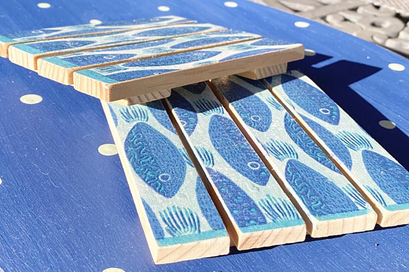 DIY Pallet Fish Drink Coasters