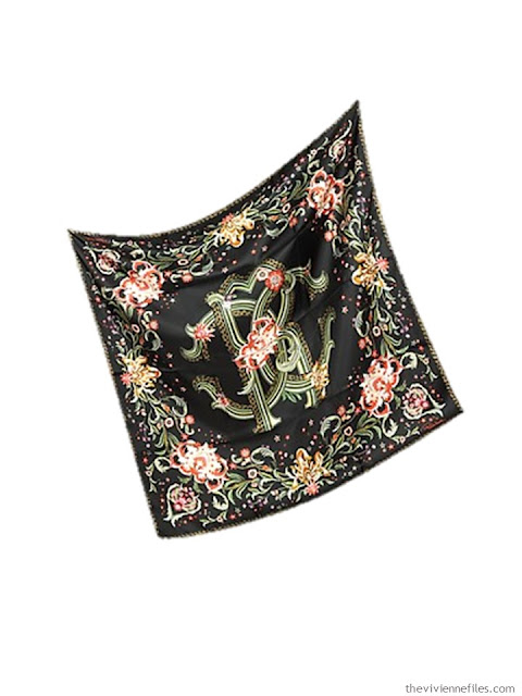 A silk scarf as part of a capsule wardrobe