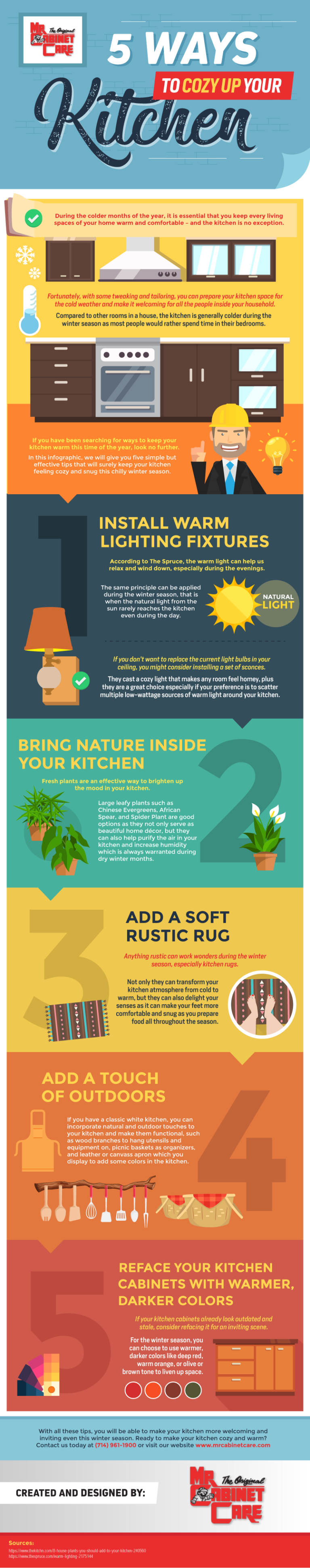 5 Ways To Cozy Up Your Kitchen #Infographic