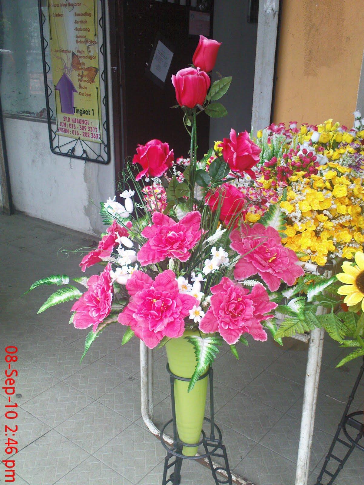 Gubahan Bunga Pasu Besar