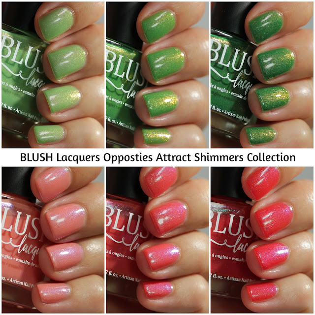 BLUSH Lacquers Opposites Attract Shimmers Collection Swatches by Streets Ahead Style