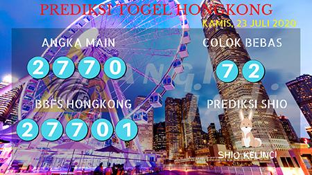Prediksi Togel Angka Jadi Hongkong HK Kamis 23 Juli 2020