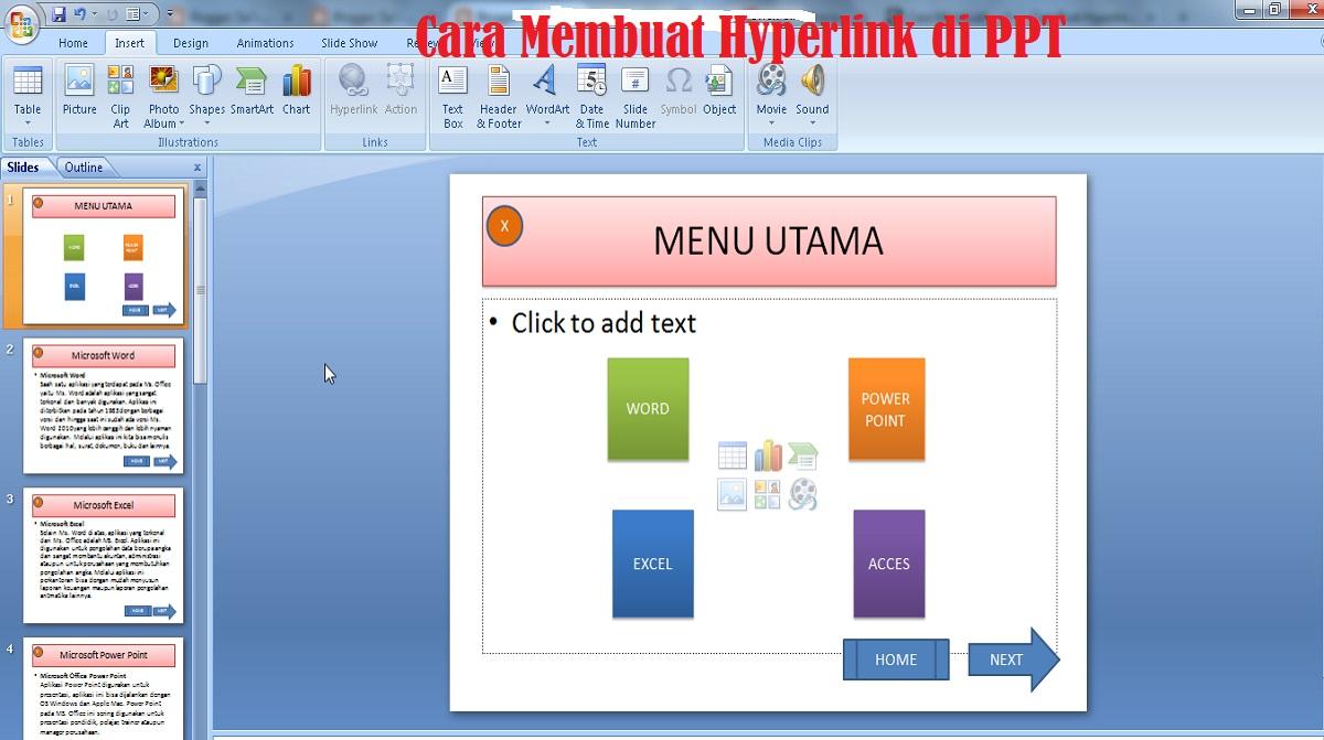 Cara Membuat Hyperlink di PPT
