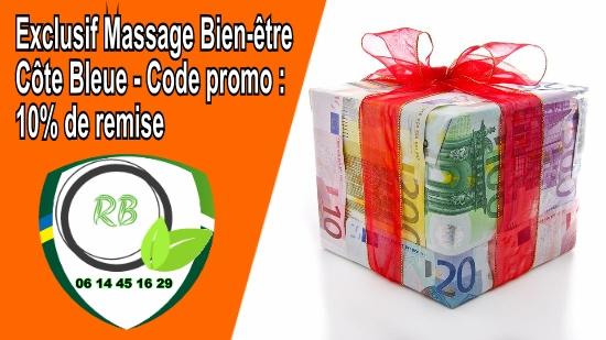 Exclusif Massage Bien-être Côte Bleue - Code promo : 10% de remise;