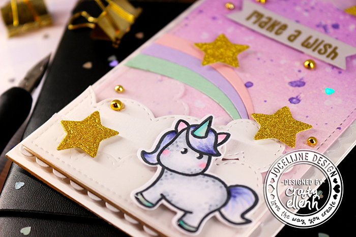 #Jocelijne #Carlijndesign #Jocelijnedesign #handmadecard #cardmaking #stamping #hellocard #friendshipcard #card #cardmaking #unicorncard #unicorns #handmade #dieset #paperart #hobby #MissSparklesstampset #MissSparklesdieset #HappySmilesdieset #scenecard #cloud9crafts #distressink #papierkunst #dutchcardmaker #Twiddlersnook  #embellishments