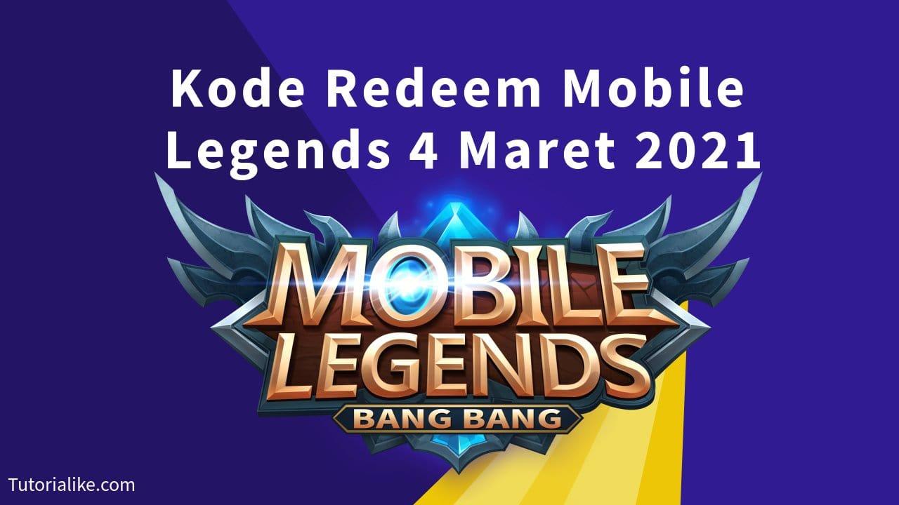 15+ Kode Redeem Mobile Legends (ML) 4 Maret 2021 Terbaru
