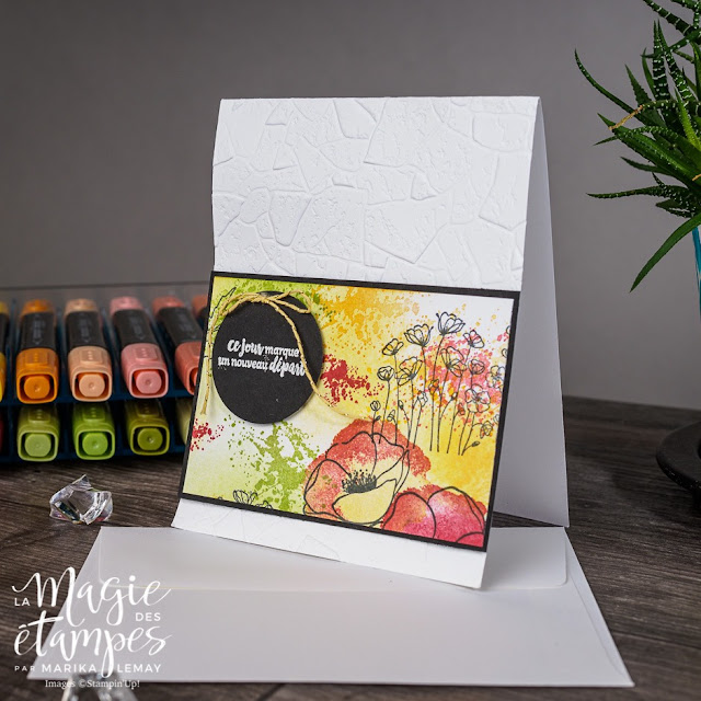 Cartes Stampin' Up! confectionnées avec le jeu d'étampes Painted poppies