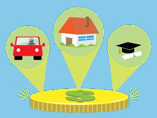 التمويل الشخصي - القرض: مبلغ كبير من المال لعملية شراء كبيرة.