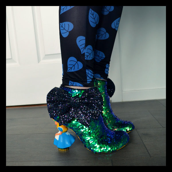 wearing irregular choice alice sequins ankle boot