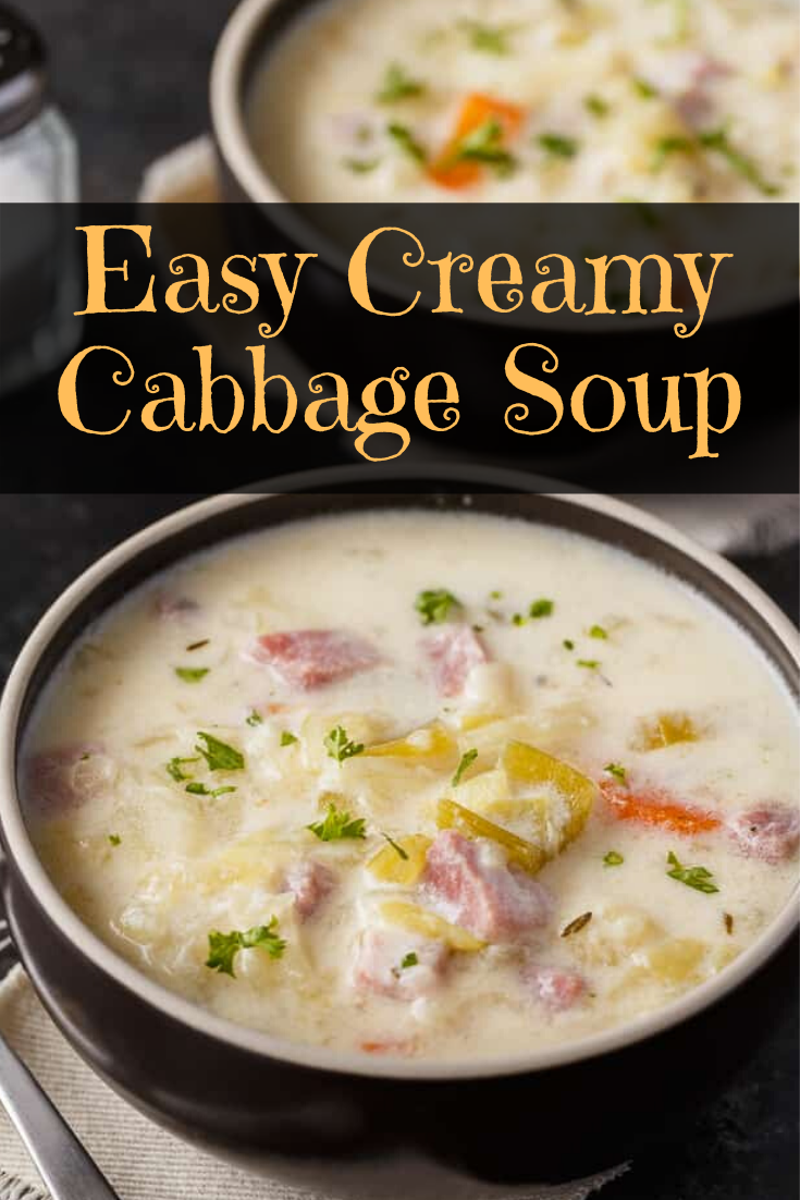 Easy Creamy Cabbage Soup