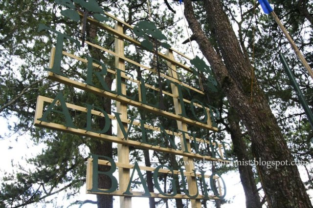 Tree Top Adventure Baguio Wooden Signage