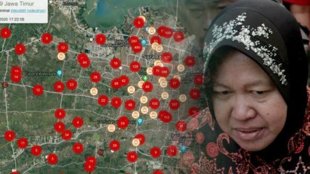 Risma Jangan Lagi Berkelakar soal Zona Merah di Surabaya yang Dikhawatirkan seperti Wuhan
