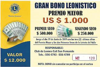 BONO LEONISTICO 2019