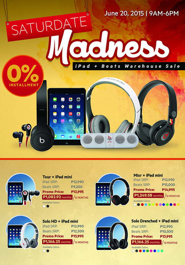 Apple and Beats Warehouse Sale This June!