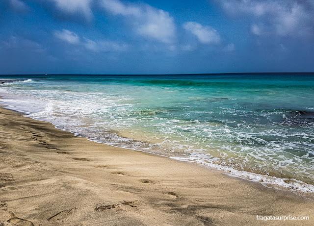 Praia na Ilha do Sal, Cabo Verde