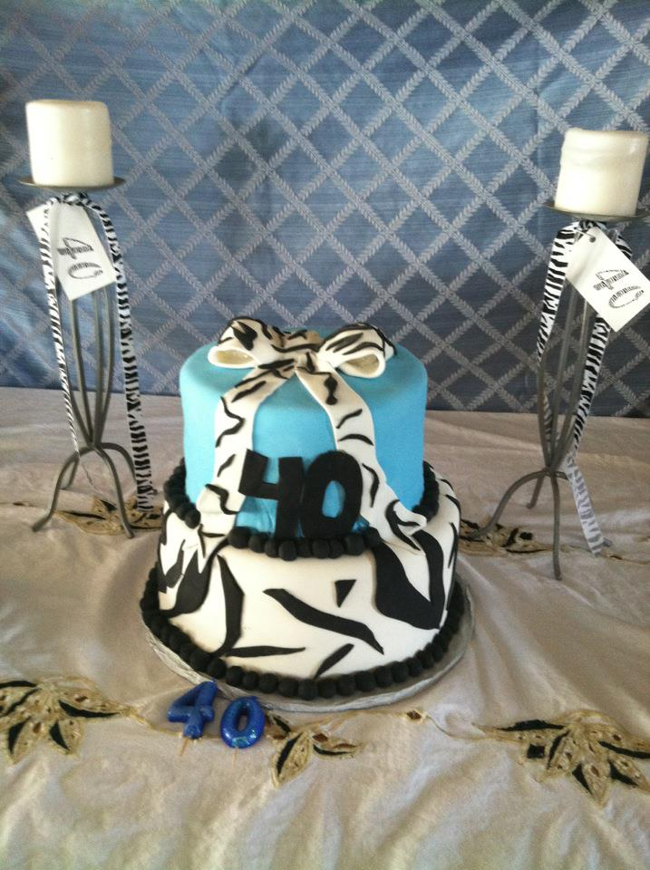 Roxys Sweets 40th Birthday Cake