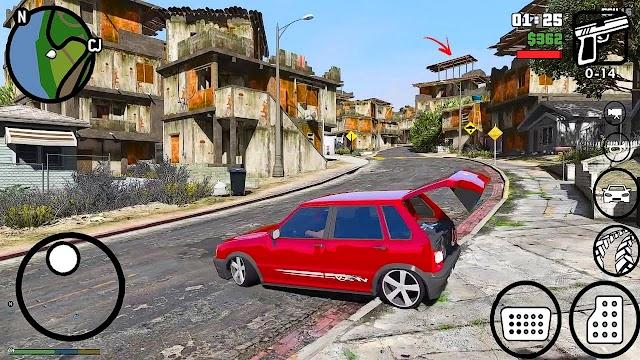 Gta San Andreas modificado Apk+Data Novos Carros e Motos, Gráficos HD