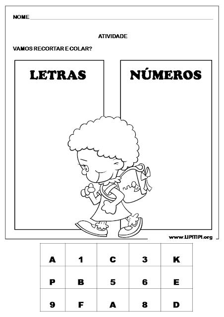 Atividade Discriminação Letra e Número